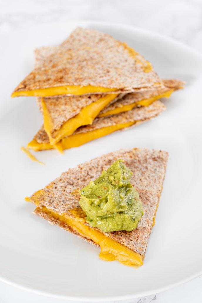 Healthy Vegan Cheese Quesadillas