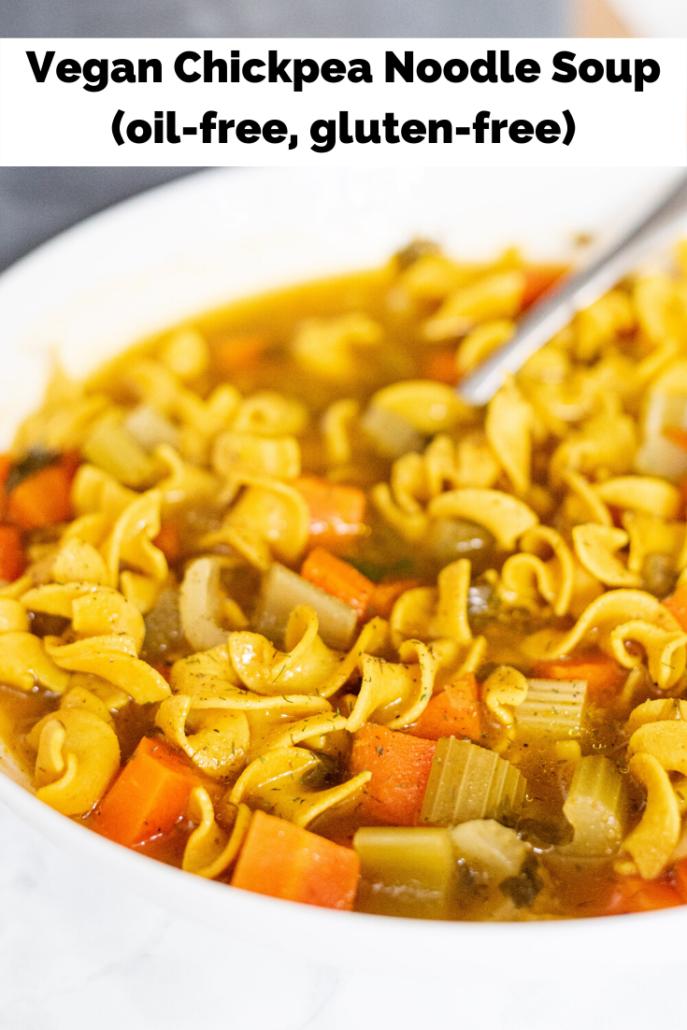 Vegan Chickpea Noodle Soup