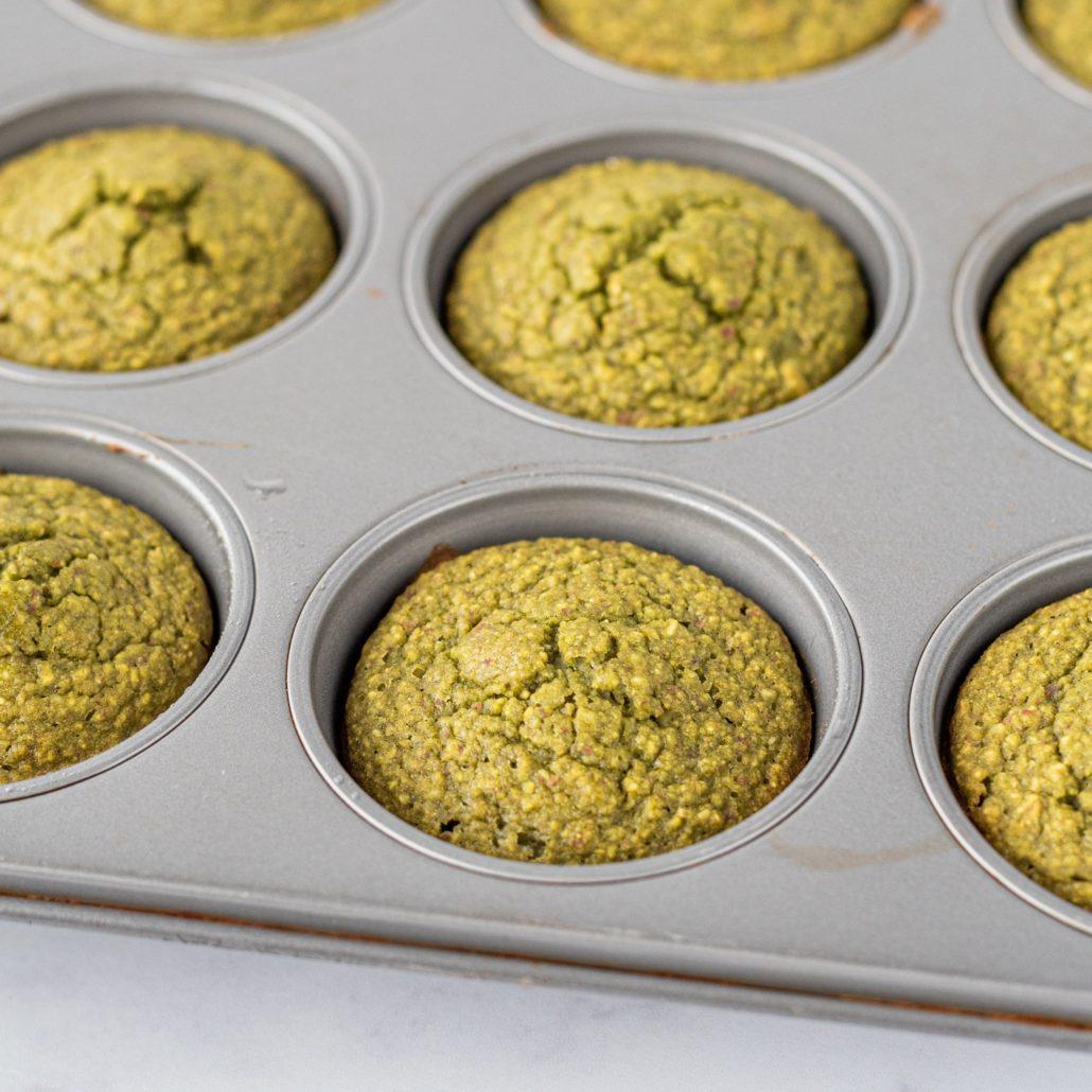 vegan gluten-free matcha muffins