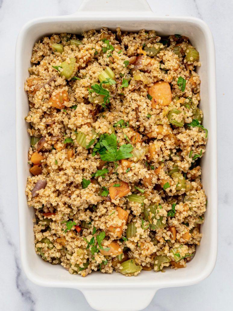 Vegan Quinoa Butternut Squash Stuffing